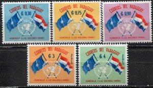 Paraguay; 1960: Sc. # 569-571, C272-C273: */MH Cpl. Set
