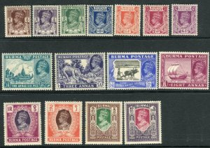 BURMA-1946 An unmounted mint set to 10r Sg 51-63