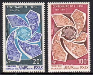 Afars & Issas Scott #374-375 1974 UPU Centenary Set MNH