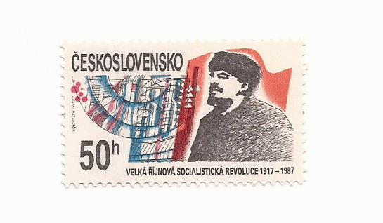 1987 Czech - October Revolution Russia 70th Anniversary #2676