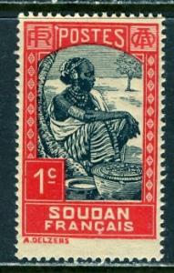 French Sudan 1931: Sc. # 61; *+/MLH Single Stamp