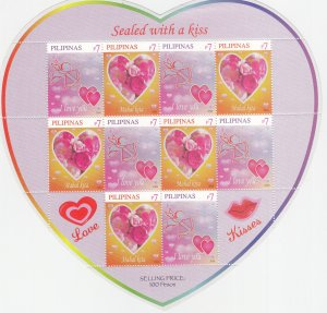 Philippines: Sc #3148c, MNH, S/S, Valentine's Day (S18920)