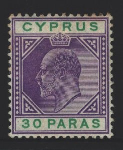 Cyprus Sc#39 MH - few toned perfs