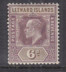 LEEWARD ISLANDS, 1902 KEVII CA 6d. Purple & Brown, lhm., corner thin.