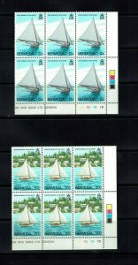 Bermuda: 1983, Fitted dinghies, Sailing,  in plate blocks of 6,  Mint