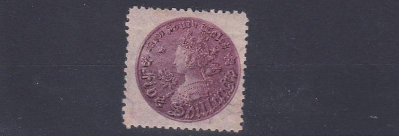 NEW SOUTH WALES  1861 - 88  SG 181  5/-  ROSE & LILAC  PERF 11  MH CAT £325