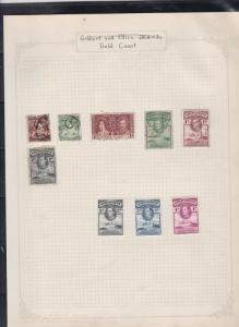 gilbert and ellice islands  gold coast stamps page ref 17406