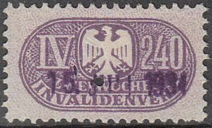 Stamp Germany Reich Revenue Fiscal Medical Social Insurance IV 240 Invalid Used