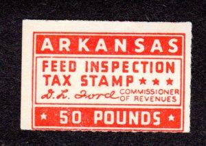 USA, Arkansas State Revenue, SRS # FE37, MH. feed    Lot 190144