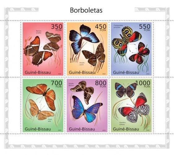 GUINE BISSAU 2010 SHEET BUTTERFLIES PAPILLONS SCHMETTERLINGEN INSECTS