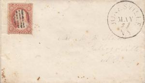 United States New York Jonesville c1860 bar grid  1819-1972  3c Washington 18...