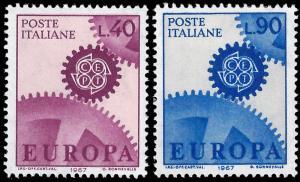 Italy 1967 Sc 951-52 MVLH CEPT Europa