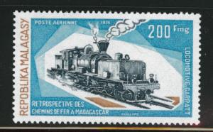 Madagascar Malagasy Scott C128 MNH** 1974 200fr locomotive