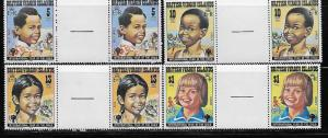 Virgin Islands 356-59 IYC Child Year set Gutter Pairs MNH