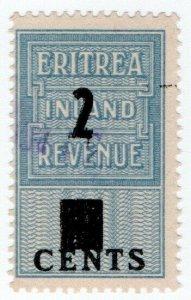 (I.B) BOIC (Eritrea) Revenue : Duty Stamp 2c on 4c OP
