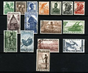 PAPUA NEW GUINEA QE II 1952-58 The Full Pictorial Set SG 1 to SG 15 VFU