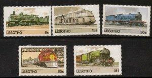 LESOTHO SG605/9 RAILWAY WORLD  MNH