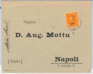 VENEZUELA -  POSTAL HISTORY -   COVER from CARACAS to NAPOLI ITALY 1900