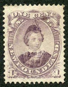 Newfoundland SG34 1868 1c Dull Purple Die 1 M/M (mint hinged)