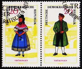 Germany(DDR). 1964 20pf(Pair)  S.G.E799/E800 Fine Used