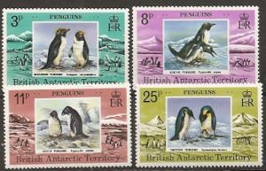 British Antarctic Territory 72-5 1979 Penguins set NH