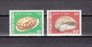 Djibouti, Scott cat. 515-516. Sea Shells issue.