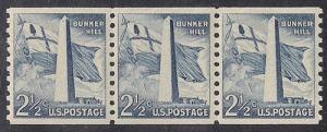 1056 2 1/2 cent Bunker Stamp M OG NH EGRADED SUPERB 98 XXF