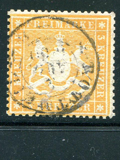 Wuerttemberg  #20  used VF