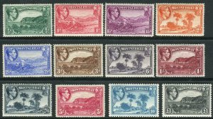 MONTSERRAT-1938-48 A lightly mounted mint set to £1 Sg 101a-112
