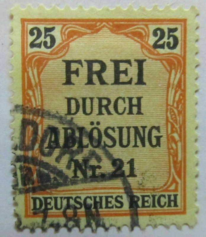 A6P44F51 Germany 1903-05 Local Official Stamp 25pf used