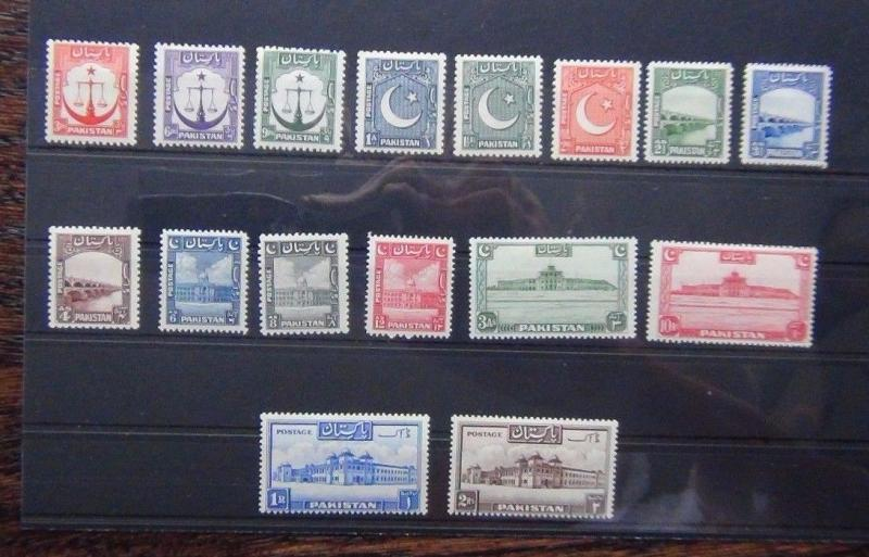 Pakistan 1948 - 57 set to 2r MM
