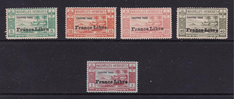 New Hebrides a small lot of early Post Due mint???