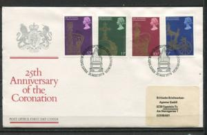 Great Britain 1978 First Day Cover  25th Anniv. Of Coronation Special Cancel