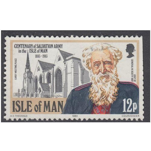 Isle of Man 1983 Salvation Army 12p - Used - Canceled as Scan