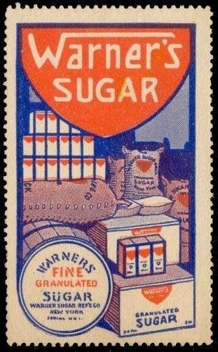 Warner's Sugar Advertising Poster Stamp