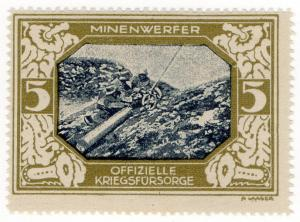 (I.B-CK) Germany (Great War) Cinderella : Official War Fund 5pf (Mortar)