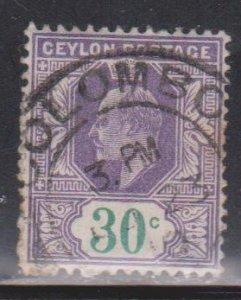 CEYLON Scott # 188 Used - King Edward VII