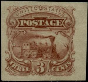 #114-E6b 3¢ 1869 PLATE ESSAY SUPERB OG NH BP4845