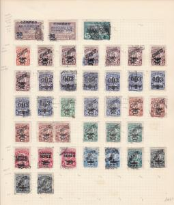 Uruguay Stamps on album page Ref 15597