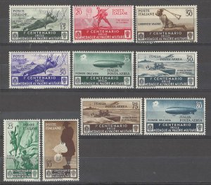 COLLECTION LOT # 4976 ITALY 10 MH STAMPS 1934 CV+$30