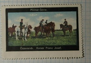 Austria Calvary Horse Soldier Army General Painting Poster Stamp