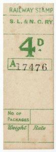(I.B) Sligo Leitrim & Northern Counties Railway : Parcel Stamp 4d