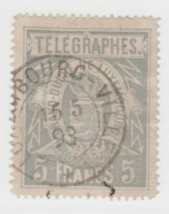 Luxembourg TELEGRAPH Fiscal tax Revenue stamp 6-6-21- hint of a hinge thin?