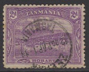 TASMANIA SG245a 1905 2d DEEP PURPLE p11 USED