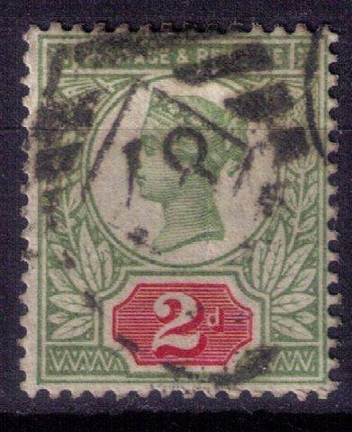 Great Britain Sc #113 2p Green & Carmine Rose Very Fine