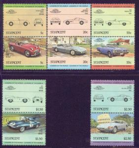 St. Vincent MNH 773-7 Pairs Classic Cars 1984 SCV 1.90