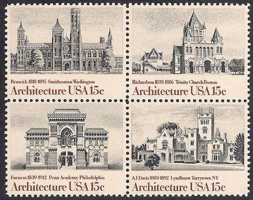 #1838-41 15 cent Architecture mint OG NH EGRADED XF 89 XXF