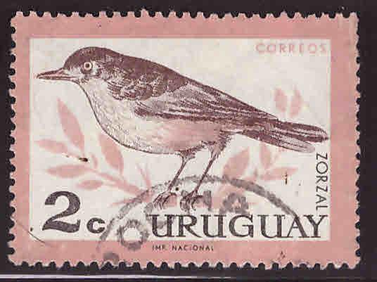 Uruguay Scott 695 Used Bird stamp