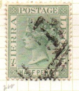 Sierra Leone 22 1884 1/2d dull green Victoria stamp used