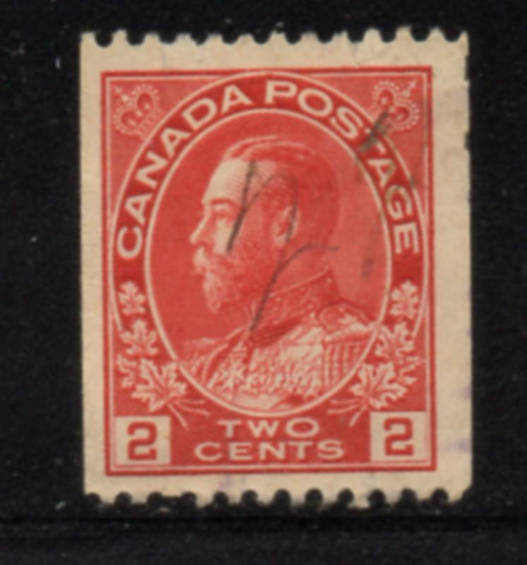 Canada Sc 132 1915 2 cent carminr G V Admiral coil stamp used
